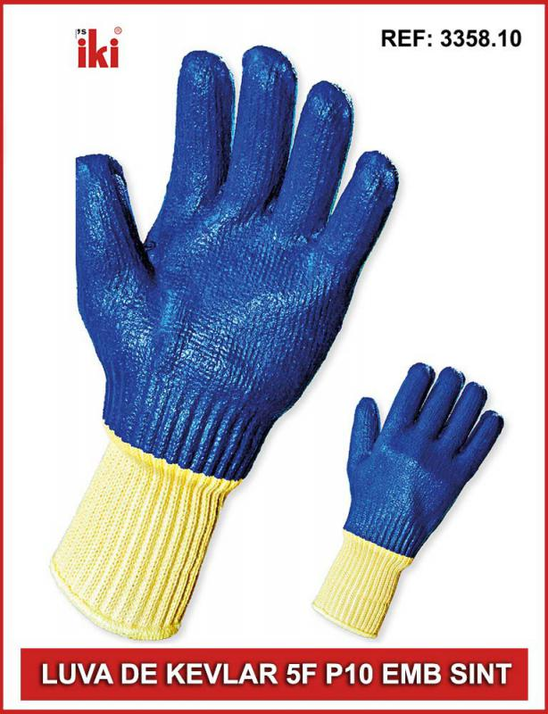 Luva tricotada epi
